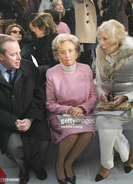 Mrs Chirac and Mrs Pompidou during Paris Fashion Week Haute Couture Spring/Summer 2007 Chanel Front Row in Paris France