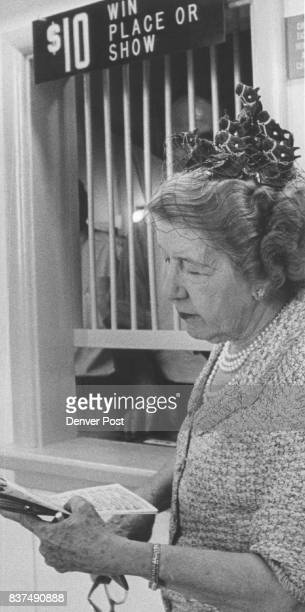 Mrs Clarence Daly Steps up to place her bet Credit Denver Post