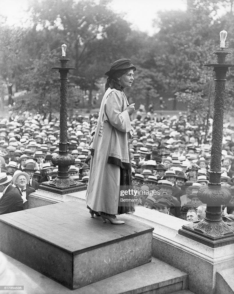 Mrs. Emmaline Pankhurst, addressing crowd of five thousand on historic Boston Common.