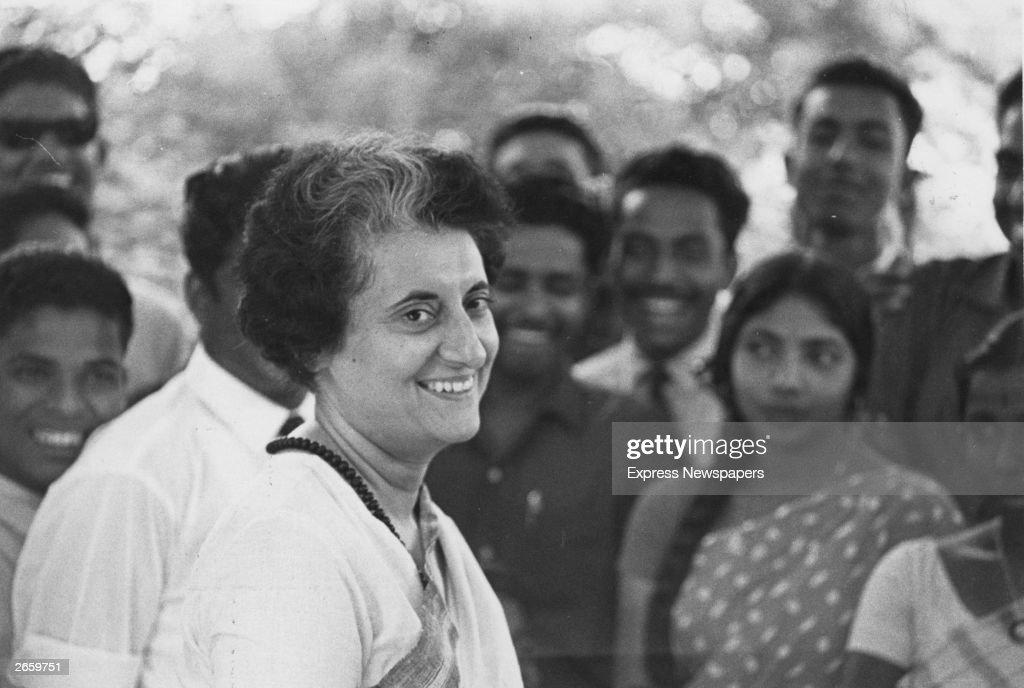 Mrs Indira Gandhi prime minister of India