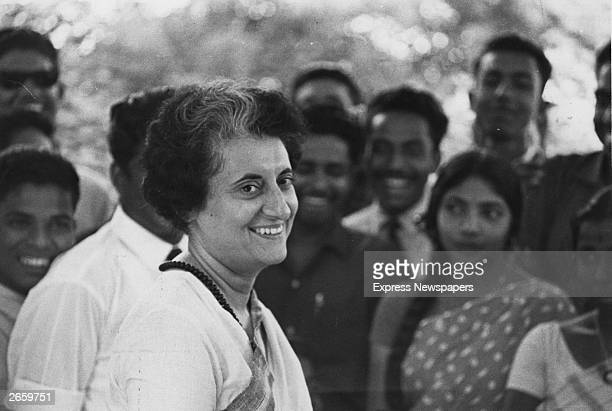 Mrs Indira Gandhi prime minister of India