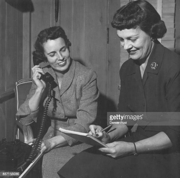 Mrs James D Hickey and Mrs Dayton Denious Credit Denver Post