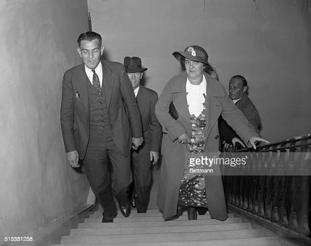 Mrs John Creighton of Baldwin LI who according to Inspector Harold R King of the Nassau County police confessed she had killed Mrs Ada Applegate with...