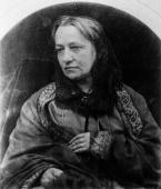 Mrs Julia Margaret Cameron a Victorian photographer who made dramatic portraits of famous Victorians often posing as historical figures using five...