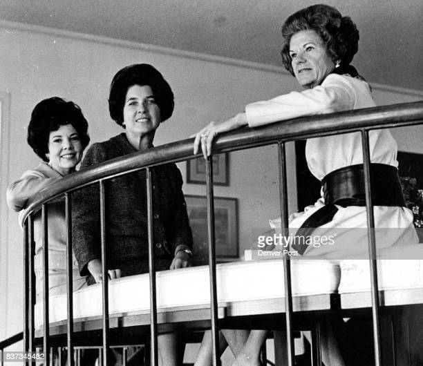 Mrs Lloyd Powers Mrs Doyle Baird and Mrs William Neil McCullough from left are doing invitations tickets and hospitality for show Credit The Sunday...