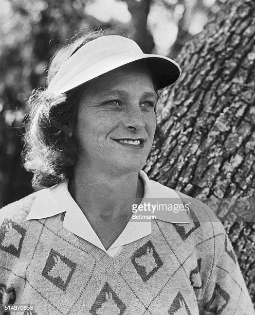 Mrs Mildred 'Babe' Didrikson Zaharias US amateur golf champ smiling looks out over the St Augustine Florida course where she won the Florida East...