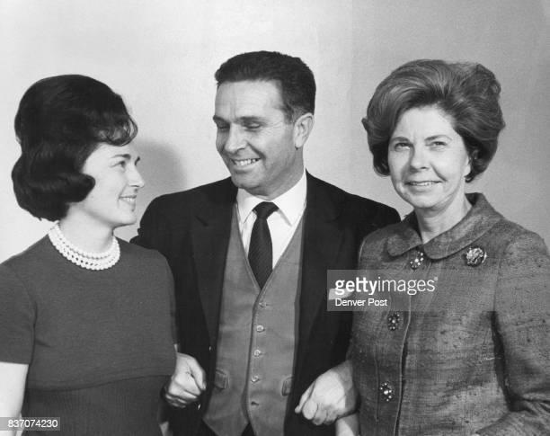 Mrs Morris Kaplan Gricha Levendis head of Greek Tourist office in New York Mrs Harold Tuft Credit Denver Post