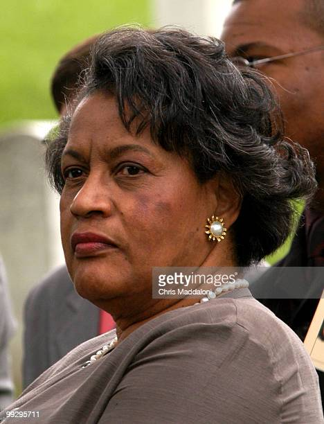 Mrs Myrlie EversWilliams widow of assassinated civil rights leader Medgar Evers at the National Day of Remembrance event for Medgar Evers at...