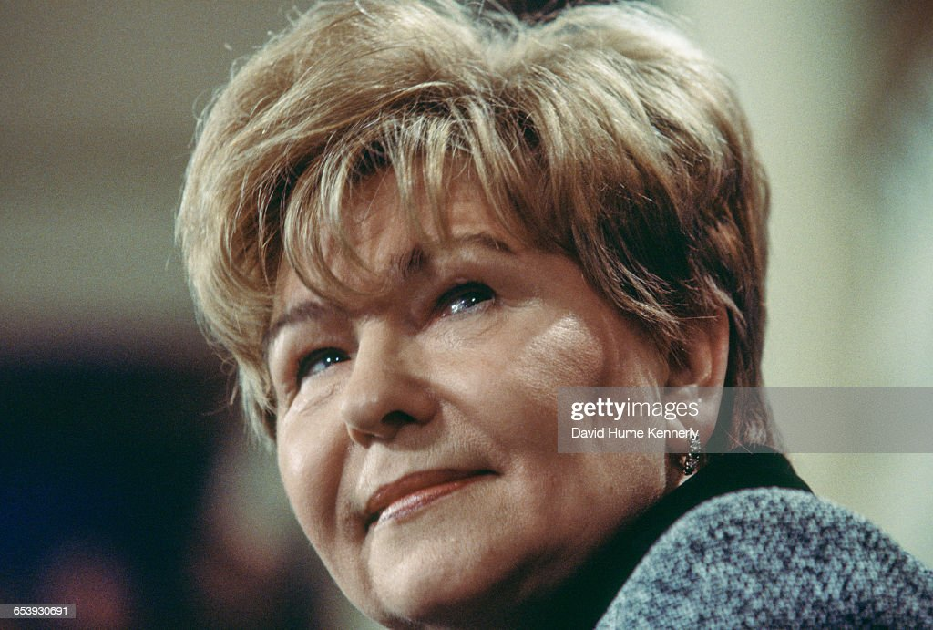 Mrs Naina Yeltsin wife of the Russian President Boris Yeltsin at a town hall meeting sponsored by the Urals Women's Association in Yekaterinburg...