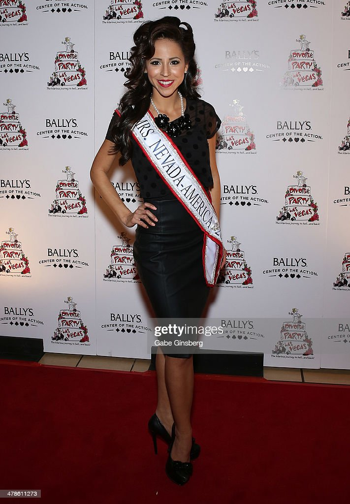 Mrs. Nevada America 2014 Lavetta Schneider arrives at the Las Vegas premiere of 'Divorce Party' at the Windows Showroom at Bally's Las Vegas on March 13, 2014 in Las Vegas, Nevada.