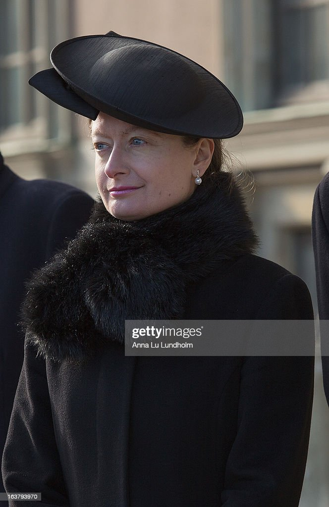 Mrs. Nicola Johnston attends the funeral of Princess Lilian Of Sweden on March 16, 2013 in Stockholm, Sweden.