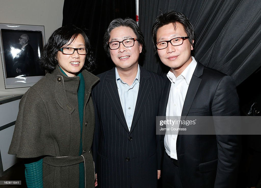Mrs. <a gi-track='captionPersonalityLinkClicked' href=/galleries/search?phrase=Park+Chan-wook&family=editorial&specificpeople=814445 ng-click='$event.stopPropagation()'>Park Chan-wook</a>, Director <a gi-track='captionPersonalityLinkClicked' href=/galleries/search?phrase=Park+Chan-wook&family=editorial&specificpeople=814445 ng-click='$event.stopPropagation()'>Park Chan-wook</a> and co-producer Wonjo Jeong attend the 'Stoker' New York Screening After Party at Frieda And Roy Furman Gallery on February 27, 2013 in New York City.