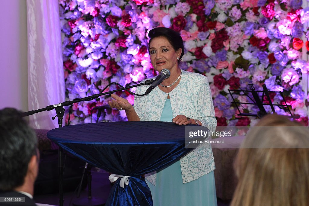Mrs. Parvin Arasteh speaks at the Arasteh Foundation 2016 on March 30, 2016 in Los Angeles, California.