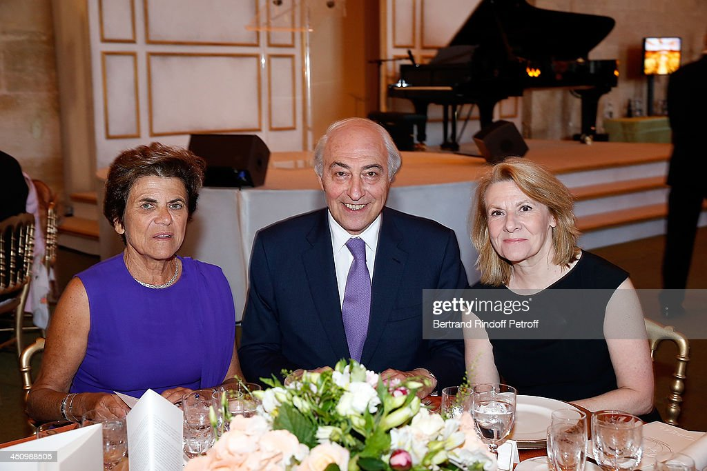 Mrs Philippe Houze, Jean Pierre Meyers and Catherine Pegard attend the L'Oreal Gala Evening 2014 at Chateau de Versailles on June 20, 2014 in Versailles, France.