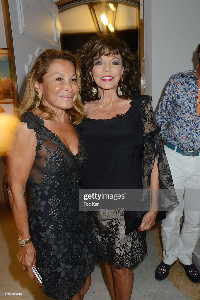 Mrs Roizen and Joan Collins attend tthe Massimo Gargia's Party hosted by Richard Roizen at Villa Les Acanthes In Saint-Tropez on August 11, 2013 in Saint Tropez, France.