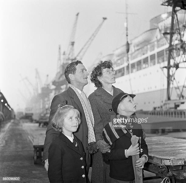 Mrs Sterry asked the Daily Mirror to photograph her husband with the ship in the background as he was due to be transferred when the ship was sold to...