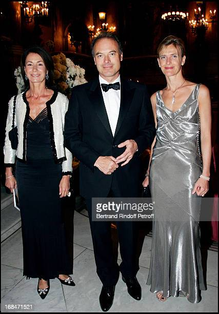 Mrs Thierry Breton Renaud Dutreil and his wife Arop gala at the Garnier opera with a ballet representation by John Neumeier 'La Dame Aux Camelias'...