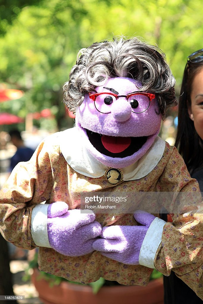 Mrs. Thistletwat of Avenue Q visits at Bronx Zoo on July 12, 2012 in New York City.
