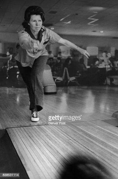 Mrs Virginia Hanson bowls in the Bowl for the Blind program of Crown Lanes where she is a member of the Early Bird League Blind and deaf children...