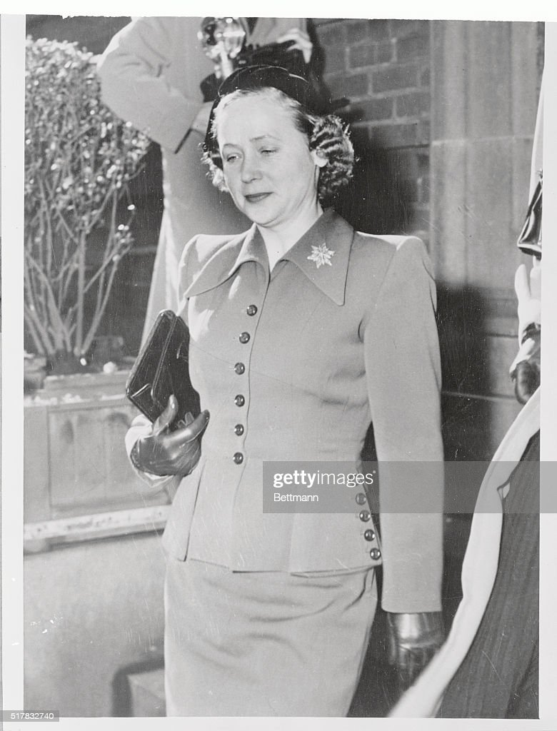 Mrs Vladimir Petrov wife of the Soviet diplomat who deserted the Reds and sought political asylum in Australia is shown arriving at the High Court...
