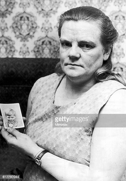 Mrs Winifred Johnson aged 42 mother of missing boy Keith Bennett 21st January 1978 The Moors murders were carried out by Ian Brady and Myra Hindley...