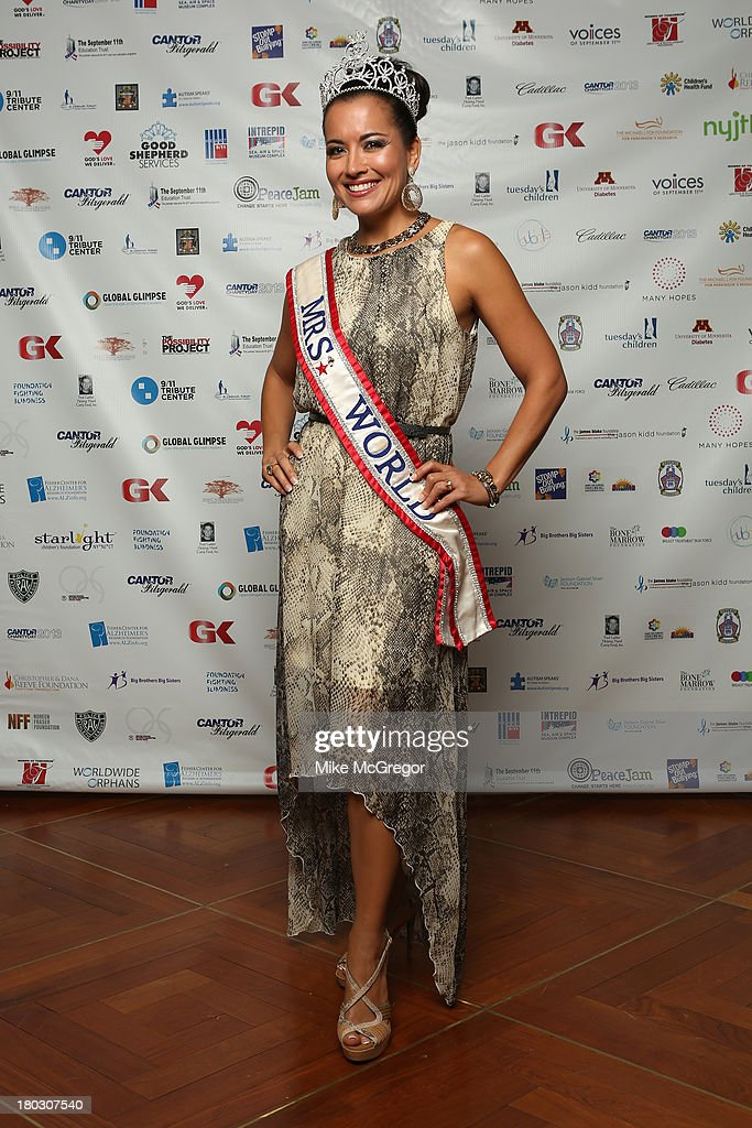 Mrs. World 2012 April Lufriu attends the Annual Charity Day Hosted By Cantor Fitzgerald And BGC at the Cantor Fitzgerald Office on September 11, 2013 in New York, United States.