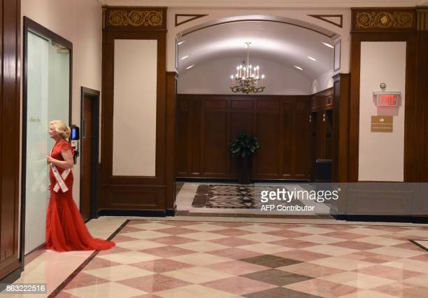 Ms Alabama Rita Young Allen before the finals of the 38th Annual National Ms Senior America 2017 Pageant held at the Resorts Casino Hotel in Atlantic...