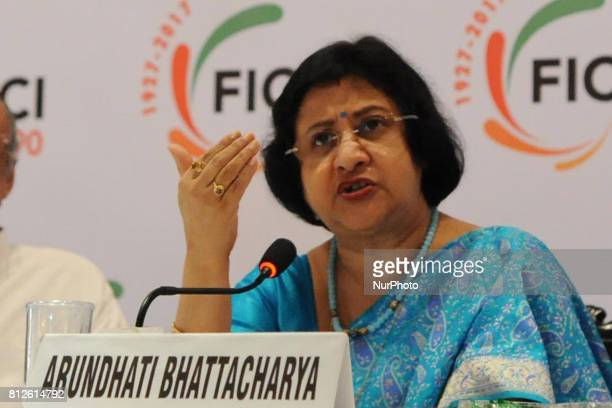 Ms Arundhati Bhattacharya Chairperson State Bank of India at the 14th Banking Conclave2017 Special Session with SBI at city hotel on July 112017 in...
