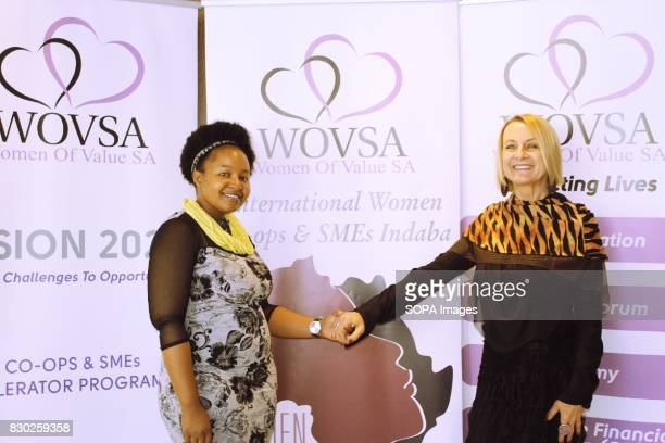 Ms Bono Mmusi and Ms Regina Huber networking at the Annual 2nd International Women Entrepreneur Indaba The event was organised by Women of Value...
