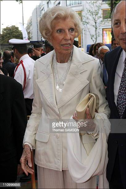Ms Georges Pompidou in soiree gala to benefit of the Claude Pompidou Foundation in Paris France on September 05th 2006
