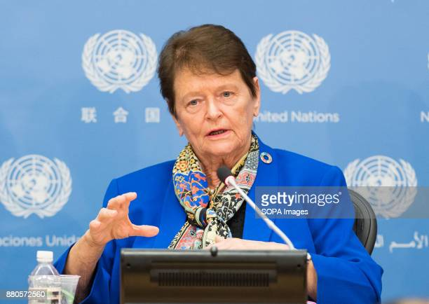 Ms Gro Harlem Brundtland former Prime Minister of Norway and Deputy Chair of the Representatives of the Elders at the United Nations