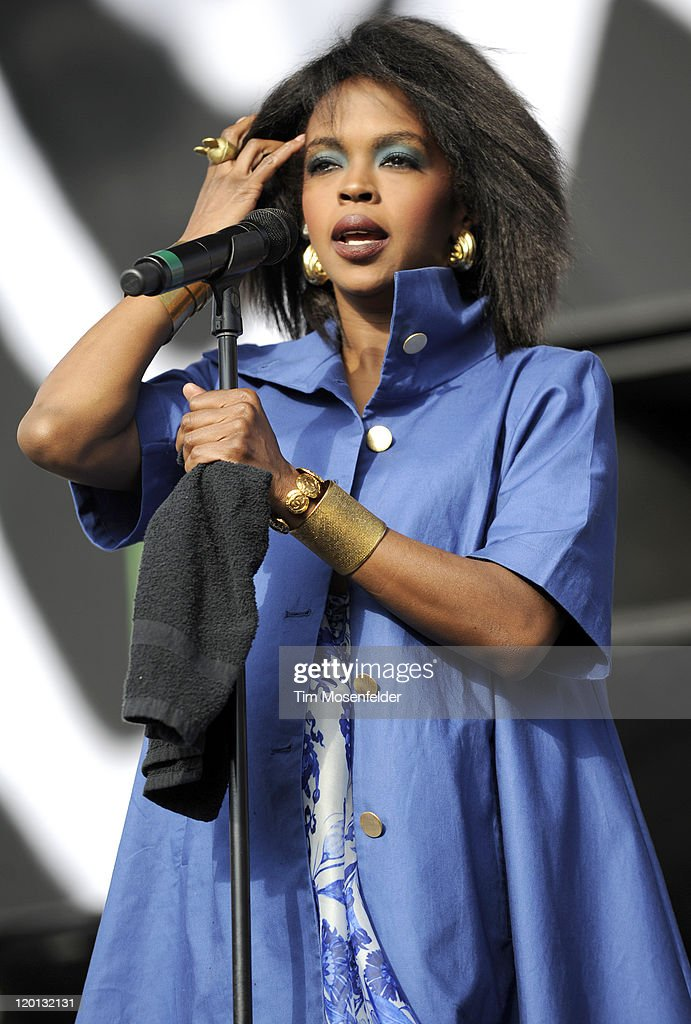 Ms. Lauryn Hill performs as part of L.A. Rising at the Los Angeles Memorial Coliseum on July 30, 2011 in Los Angeles, California.