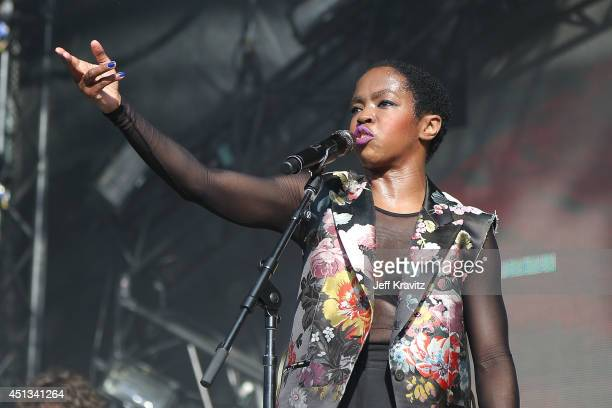 Ms Lauryn Hill performs during Day 2 of the 2014 Electric Forest Festival on June 27 2014 in Rothbury Michigan
