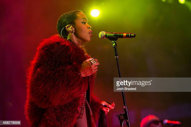 Ms Lauryn Hill performs during Voodoo Music Arts Experience at New Orleans City Park on November 1 2014 in New Orleans Louisiana