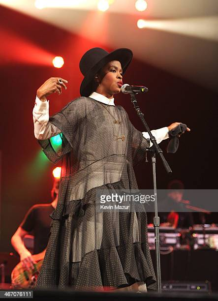 Ms Lauryn Hill performs onstage during the Amnesty International Concert presented by the CBGB Festival at Barclays Center on February 5 2014 in New...
