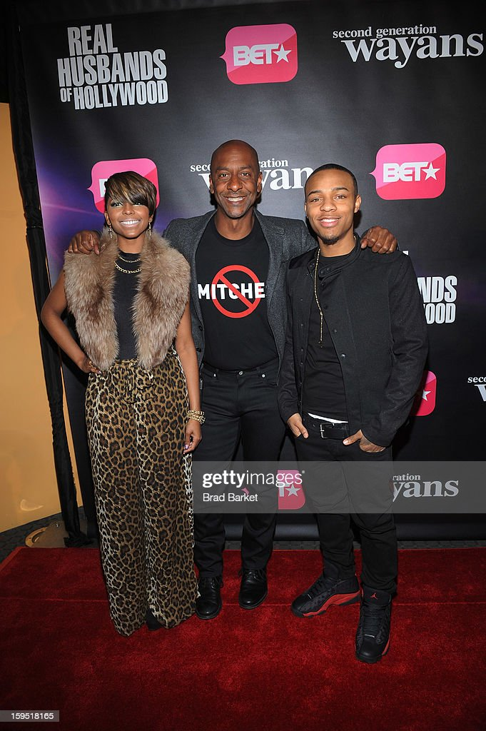 Ms. Mikey, Stephen G. Hill, and Bow Wow attend BET Networks New York Premiere Of 'Real Husbands of Hollywood' And 'Second Generation Wayans' at SVA Theater on January 14, 2013 in New York City.