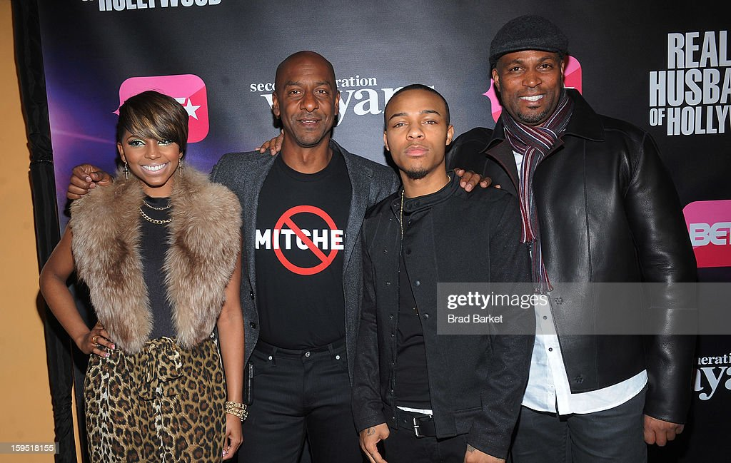 Ms. Mikey, Stephen G. Hill, <a gi-track='captionPersonalityLinkClicked' href=/galleries/search?phrase=Bow+Wow+-+Rapper&family=editorial&specificpeople=211211 ng-click='$event.stopPropagation()'>Bow Wow</a> and Chris Spencer attend BET Networks New York Premiere Of 'Real Husbands of Hollywood' And 'Second Generation Wayans' at SVA Theater on January 14, 2013 in New York City.