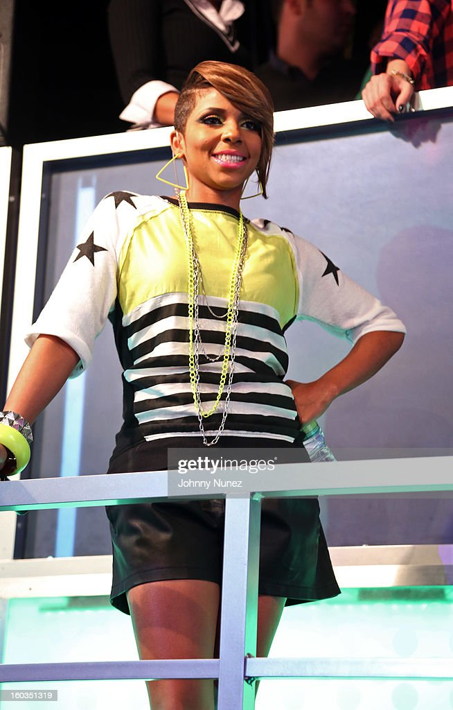 Ms. Mykie hosts BET's '106 & Park' at 106 & Park Studio on January 29, 2013, in New York City.