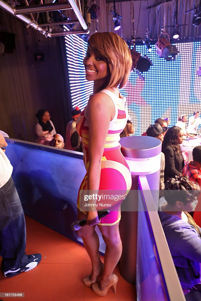 Ms. Mykie hosts BET's '106 & Park' at BET Studios on February 14, 2013 in New York City.