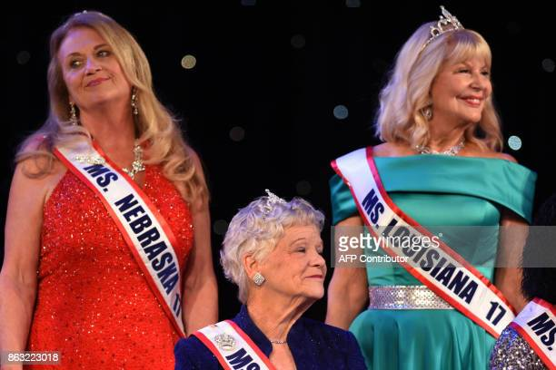 Ms Nebraska Debbie Watts Ms Connecticut Charlene Armitage and Ms Louisiana Dr Linda Lister are pictured together during the finals of the 38th Annual...