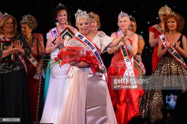 Ms New Jersey Carolyn Slade Harden is crowned Ms Senior America during the 38th Annual National Ms Senior America 2017 Pageant at the Resorts Casino...