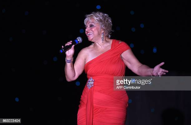 Ms New Jersey Carolyn Slade Harden performs during the talent segment and before she was crowned Ms Senior America at the 38th Annual National Ms...