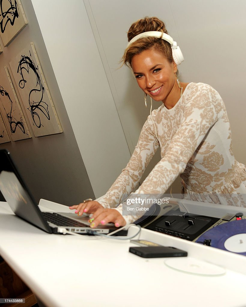 DJ Ms. Nix attends New Orleans To New York City Benefit Gala at Donna Karen's Stephen Weiss Studio on July 25, 2013 in New York City.