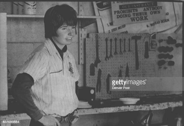 Ms Nora Johnson Female Mgr of Chambers Road 66 Station Manager of Gasoline Station Credit Denver Post