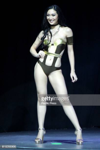 Ms Philippines Earth 2017 Karen Ibasco during swimsuit parade in Miss Earth Philippines coronation night at Mall Of Asia Arena in Pasay City Its a...