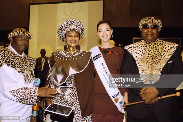 Ms South Africa 2017 DemiLeigh NelPeters and Zulu Royals attending the Annual 2nd International Women Entrepreneur Indaba The event was organised by...