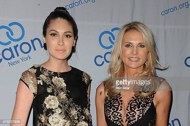Ms Universe 2015 Gabriela Isler and Petra Levin attend the 2015 Caron Treatment Centers NYC Gala at Cipriani 42nd Street on May 13 2015 in New York...