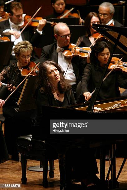Mstislav Rostropovich conducting New York Philharmonic on Wednesday night April 27 2005This imageMartha Argerich performing Prokofiev's 'Piano...