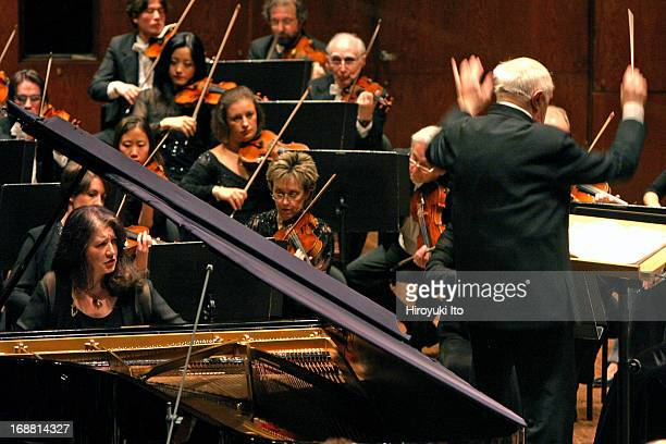 Mstislav Rostropovich conducting New York Philharmonic on Wednesday night April 27 2005This imageMstislav Rostropovich conducting NY Philharmonic in...