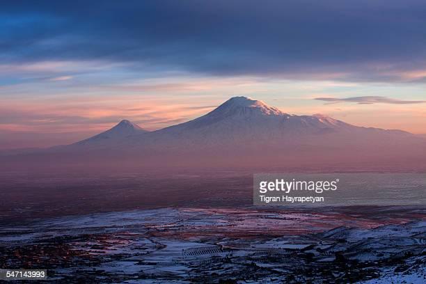 Mt Ararat at sunset